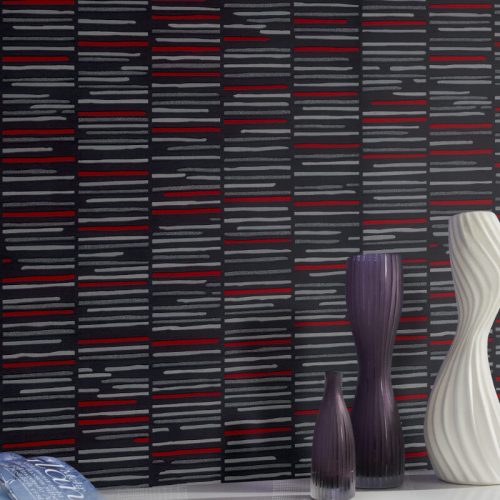 13384-10 Horizontal Stripe Wallpaper By P+S International