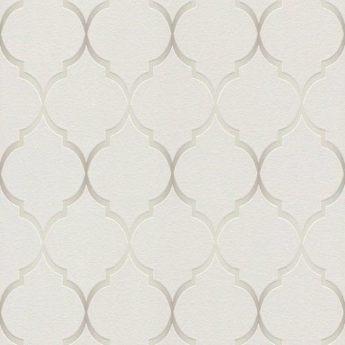 701609 Selection Soft Grey Shimmering Trellis Wallpaper Rasch