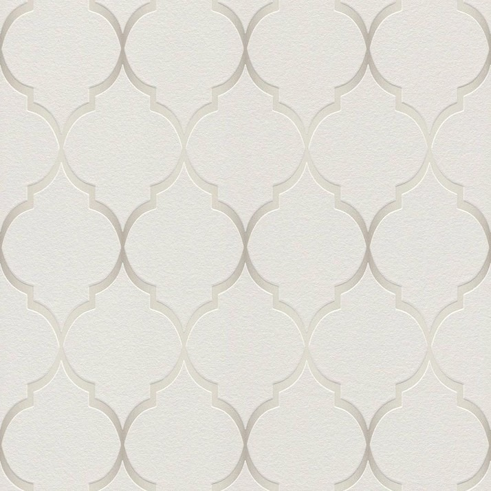 701609 Selection Soft Grey Shimmering Trellis Wallpaper Rasch