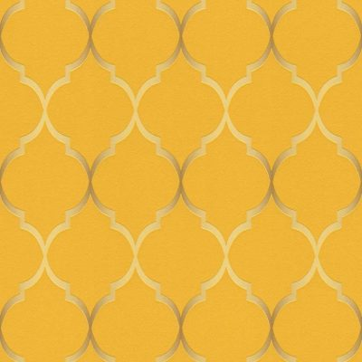 701630 Selection Fleece yellow orange Gloss Wallpaper Rasch