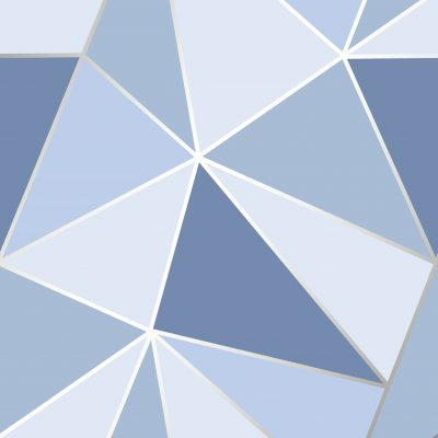 FD41992 Fine Decor Apex Geo Blue Geometric Design Wallpaper