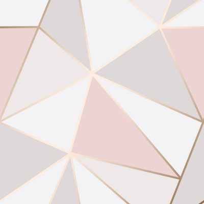 FD41993 Fine Decor Apex Geo Rose Gold Geometric Design Wallpaper