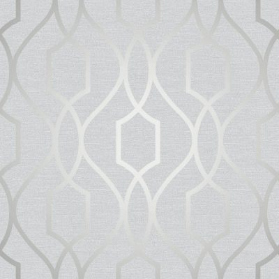 FD41995 Fine Decor Apex Trellis Silver Wallpaper