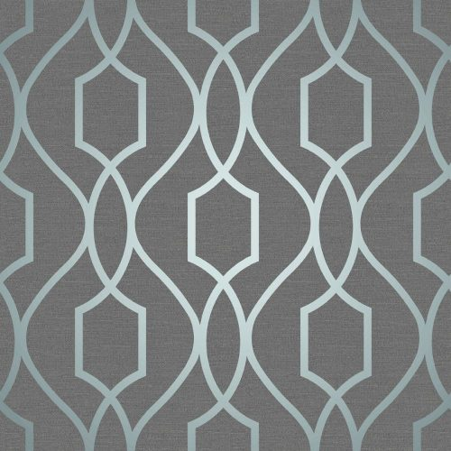 FD41996 Fine Decor Apex Trellis Blue Slate Wallpaper