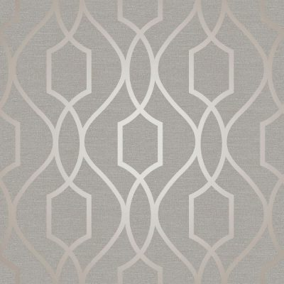 FD41997 Fine Decor Apex Trellis Taupe Grey Wallpaper