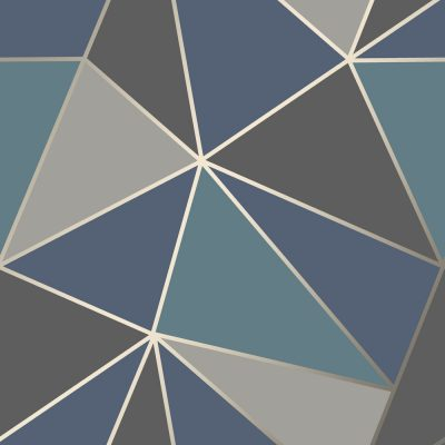 FD42001 Fine Decor Apex Geo Aqua Navy Geometric Design Wallpaper