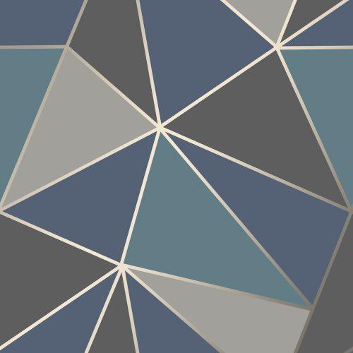FD42001 Fine Decor Apex Geo Aqua Navy Geometric Design Wallpaper