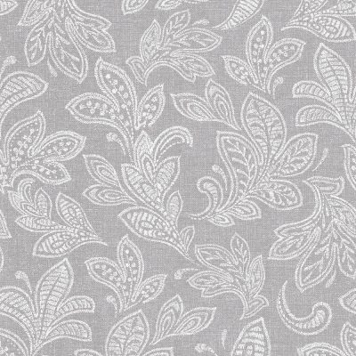 M1119 Crown Calico Leaf Soft Grey Textured Wallpaper