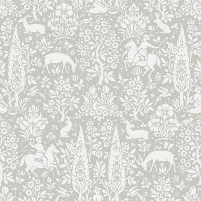 M1168 Crown Woodland Floral Grey Enchanted Wallpaper