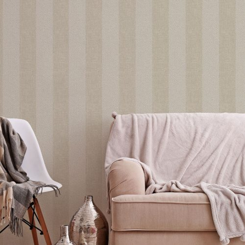 M1311 Crown Tweed Stripe Hessian Textured Wallpaper