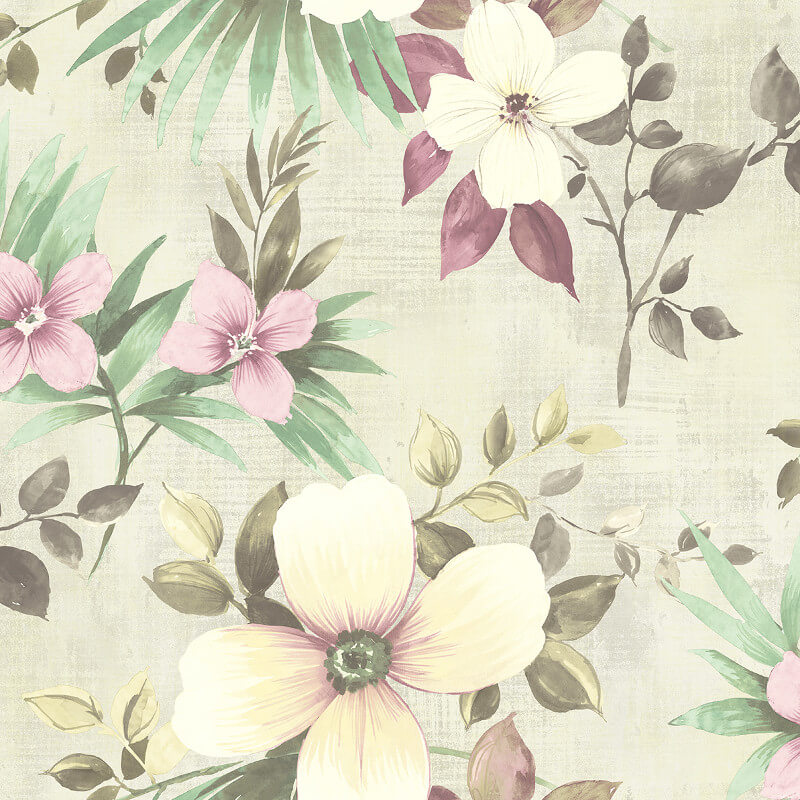 3dacedb70716a NH10209 Large Floral Dusty Pink Wallpaper Senzai Wallpaper Collection