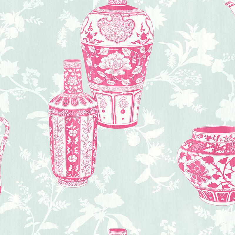 Apex Geo Wallpaper Rose Gold: NH11501 Vases Pink Wallpaper Senzai Wallpaper Collection
