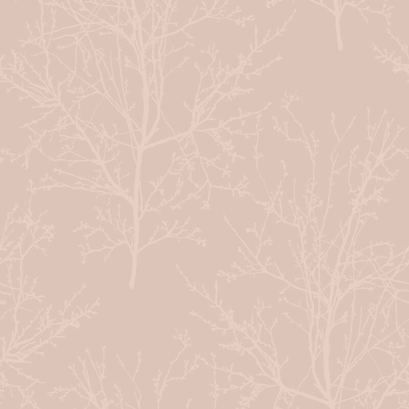 UK11501 Pear Tree Glass Bead Tree design Metallic Rose Wallpaper