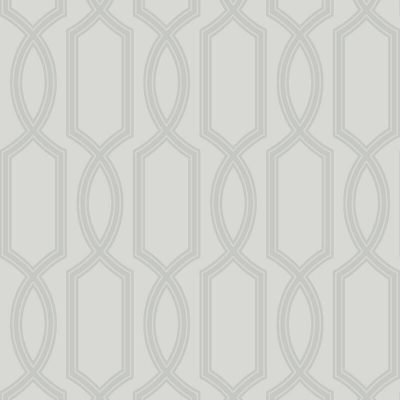 UK11700 Pear Tree Glass Bead Metallic Trellis Silver Wallpaper
