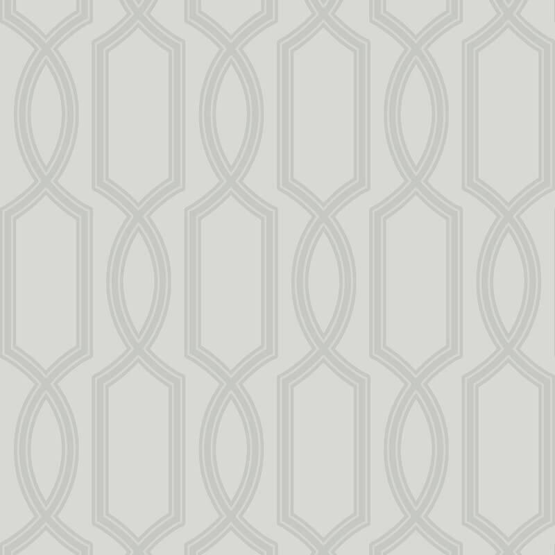 UK11700 Pear Tree Glass Bead Metallic Trellis Silver Wallpaper