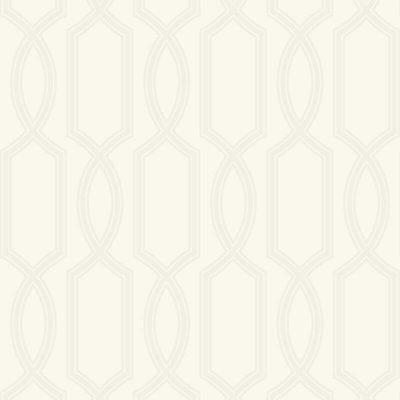 UK11703 Pear Tree Glass Bead Metallic Trellis Pearl Wallpaper