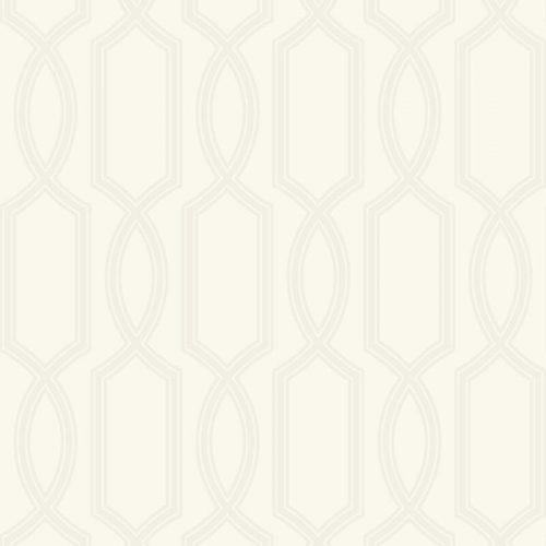 UK11703 Pear Tree Glass Bead Metallic Trellis Pearl Wallpaper