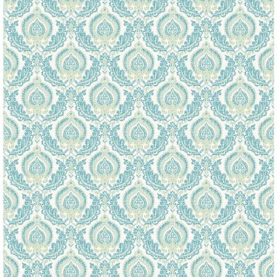 2657 22228 Green Lulu Ami Charming Street Prints Wallpaper