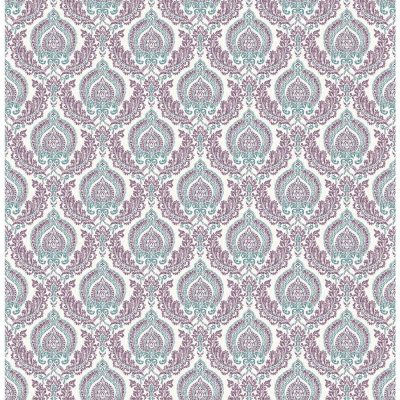 2657 22231 Plum Lulu Ami Charming Street Prints Wallpaper