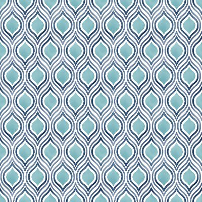 2702 22701 Plume Turquoise Ogee Mirabelle Street Prints Wallpaper