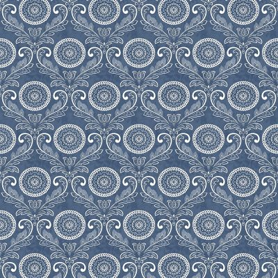 2702 22703 Jubilee Blue Medallion Mirabelle Street Prints Wallpaper