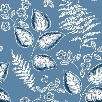 2702 22709 Trianon Blue Botanical Mirabelle Street Prints Wallpaper