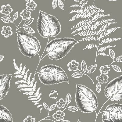 2702 22711 Trianon Grey Botanical Mirabelle Street Prints Wallpaper