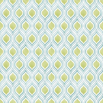2702 22715 Plume Green Ogee Mirabelle Street Prints Wallpaper