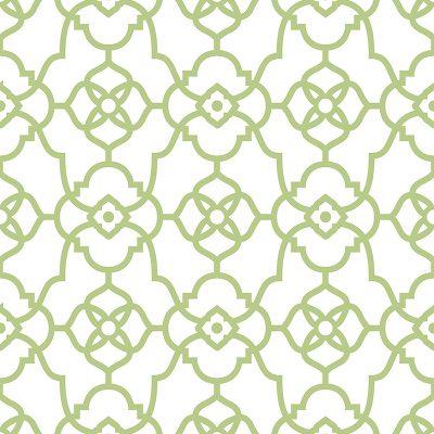 2702 22717 Atrium Green Trellis Mirabelle Street Prints Wallpaper