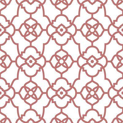 2702 22719 Atrium Coral Trellis Mirabelle Street Prints Wallpaper