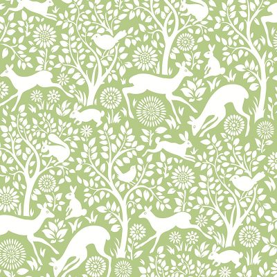 2702 22732 Meadow Green Animals Mirabelle Street Prints Wallpaper