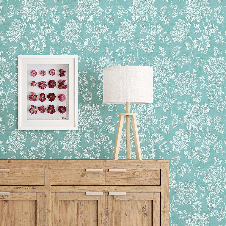 2702 22735 Tivoli Turquoise Floral Mirabelle Street Prints