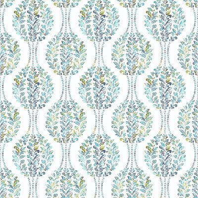 2702 22738 Versailles Teal Damask Mirabelle Street Prints Wallpaper