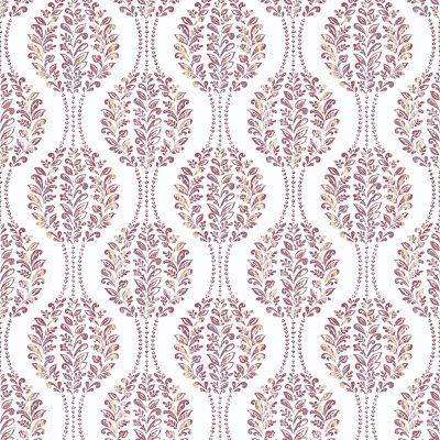 2702 22741 Versailles Magenta Damask Mirabelle Street Prints Wallpaper