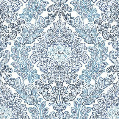 2702 22743 Fontaine Navy Damask Mirabelle Street Prints Wallpaper