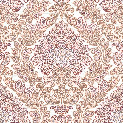 2702 22745 Fontaine Orange Damask Mirabelle Street Prints Wallpaper