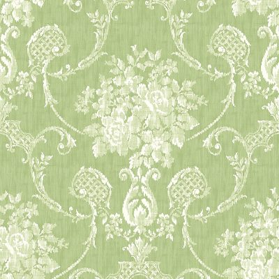 2702 22747 Winsome Green Damask Mirabelle Street Prints Wallpaper