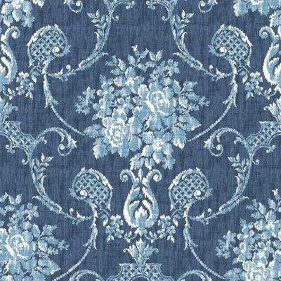2702 22748 Winsome Blue Damask Mirabelle Street Prints Wallpaper