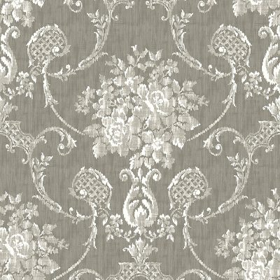 2702 22749 Winsome Grey Damask Mirabelle Street Prints Wallpaper