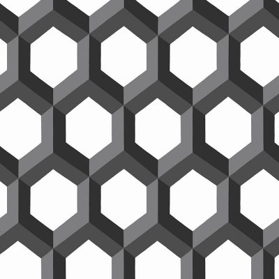 FD23841 Black Hexagonal Eclipse Street Prints Wallpaper Collections