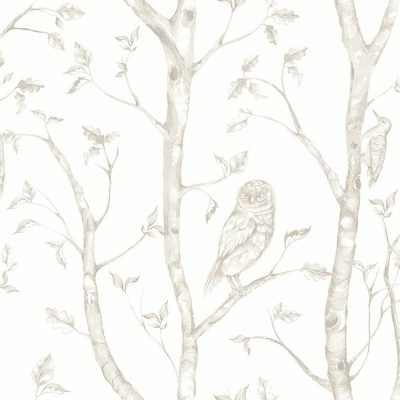 FD23862 Taupe Forest Eclipse Street Prints Wallpaper Collections