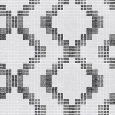 FD23864 Black White Mosaic Eclipse Street Prints Wallpaper Collections