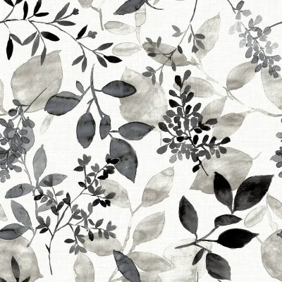 FD23866 Black Floral Leaves Eclipse Street Prints Wallpaper Collections