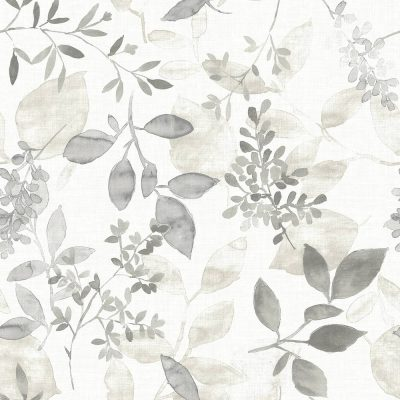 FD23867 Grey Floral Leaves Eclipse Street Prints Wallpaper Collections