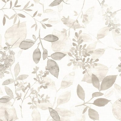 FD23868 Taupe Floral Leaves Eclipse Street Prints Wallpaper Collections
