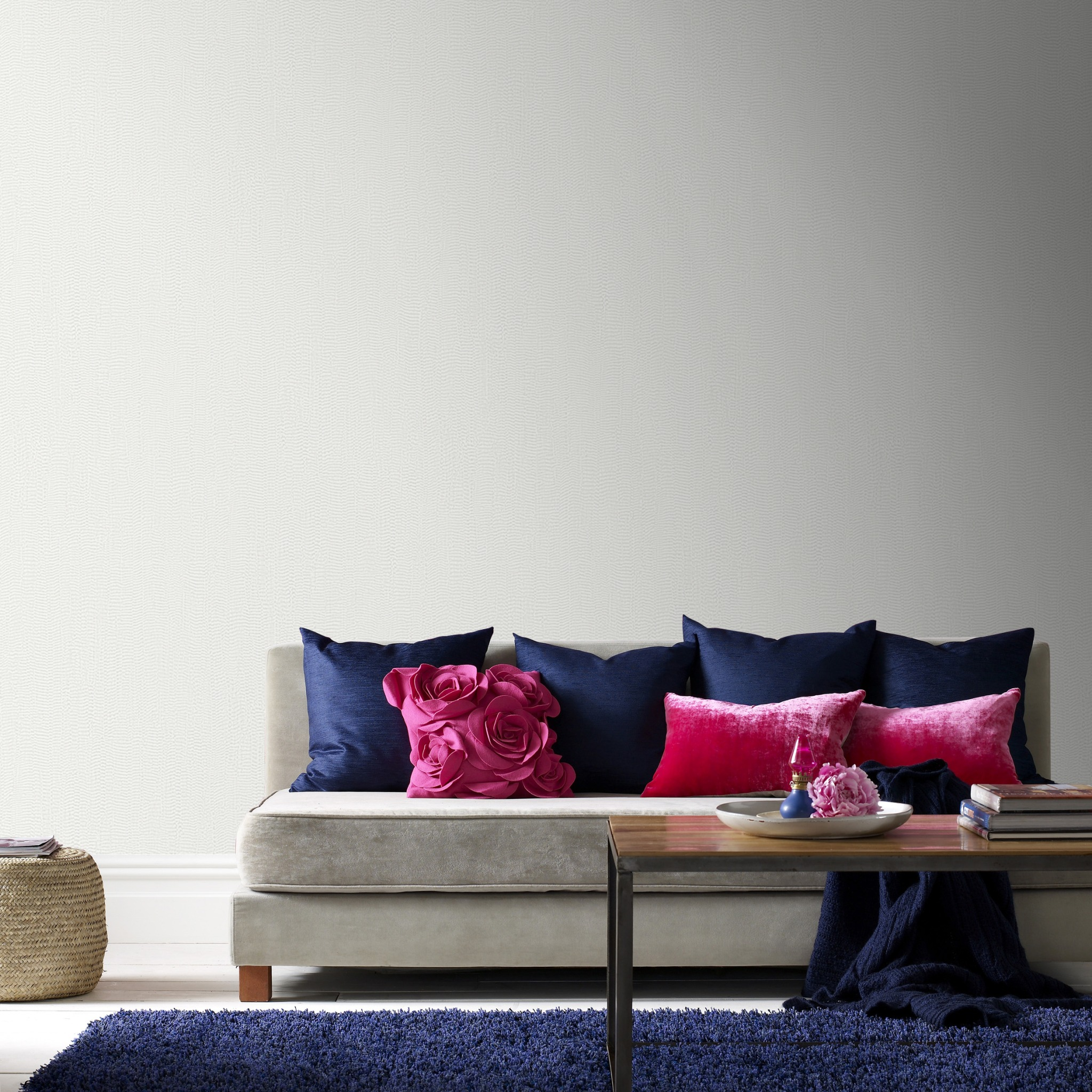 Metallic Light Silver Plain Wallpaper 104762 Wallpaper Sales