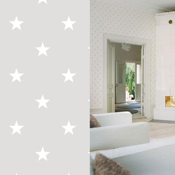 Small Grey And White Star Wallpaper HI109