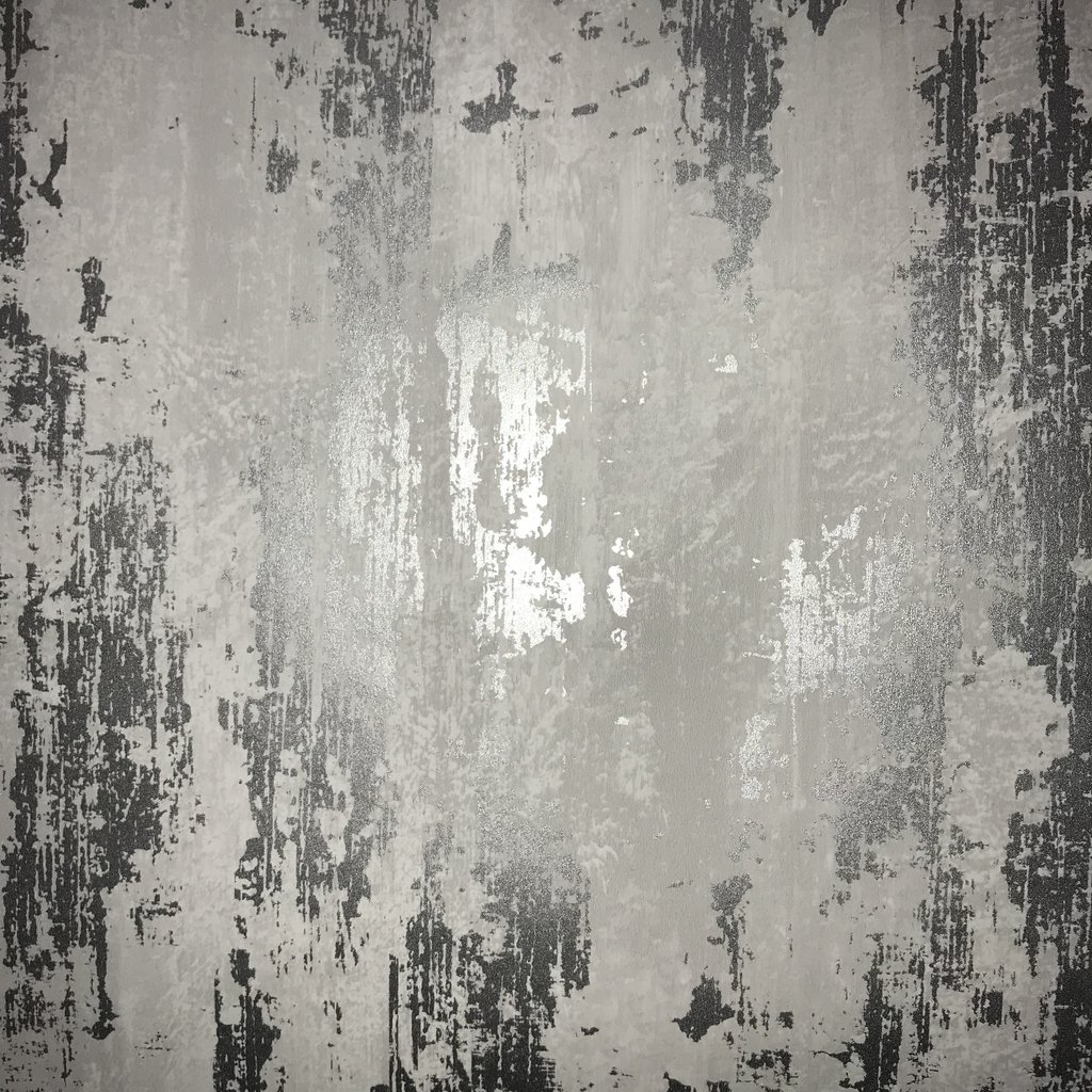 Silver Industrial Texture Wallpaper