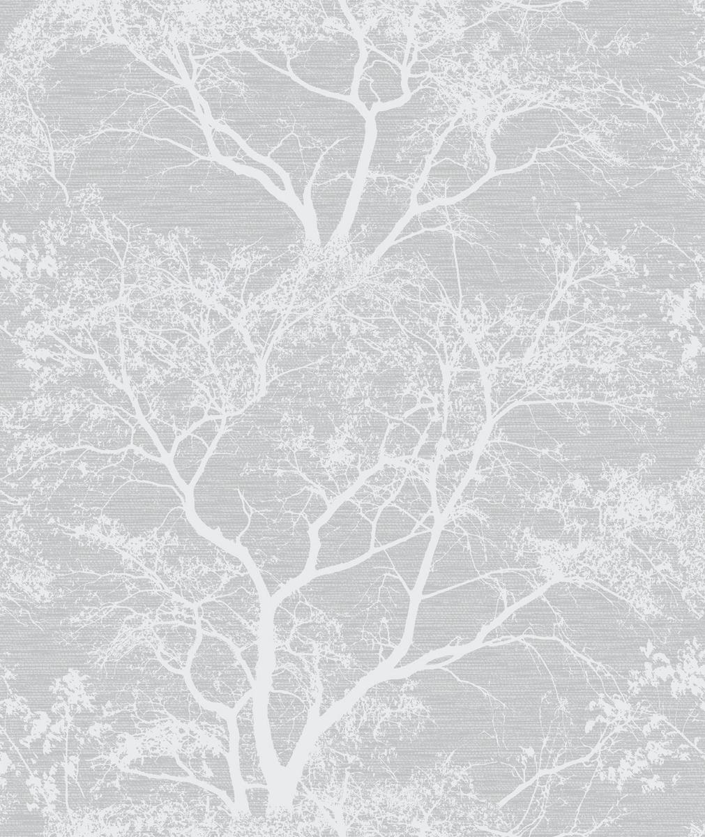 Glitter Grey Tree Wallpaper Sales