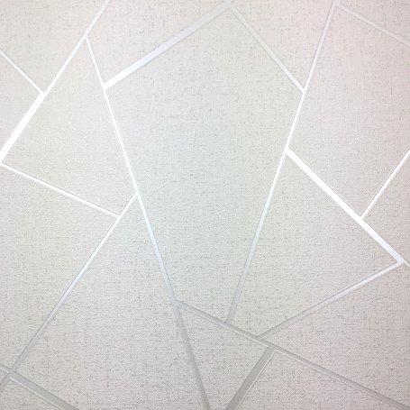 Quartz Fractal Wallpaper Silver Geometric FD42280